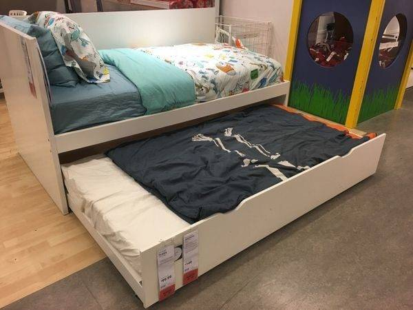 Ikea Flaxa Twin Bed Pull Out Daybed Guest Furniture