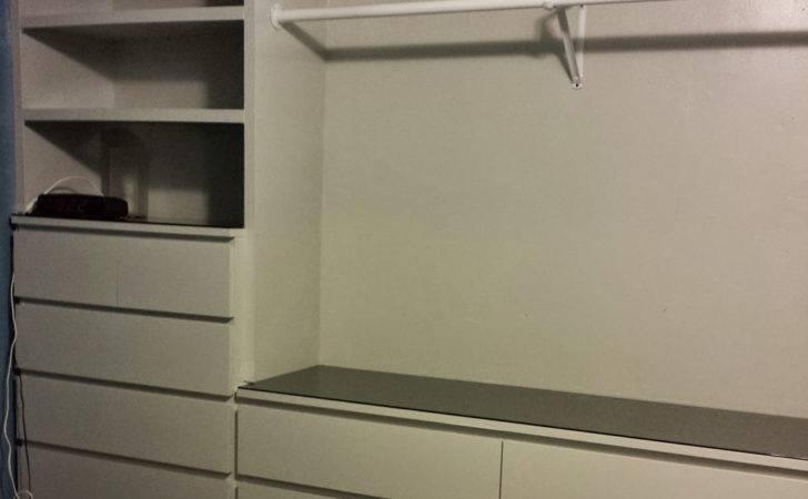 Ikea Hack Built Wardrobe Using Malm Dressers Living