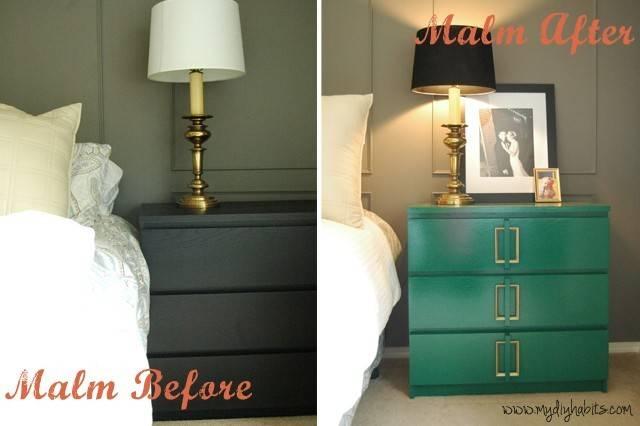 Ikea Hack Emerald Green Bedside Table Upgrade Blogher