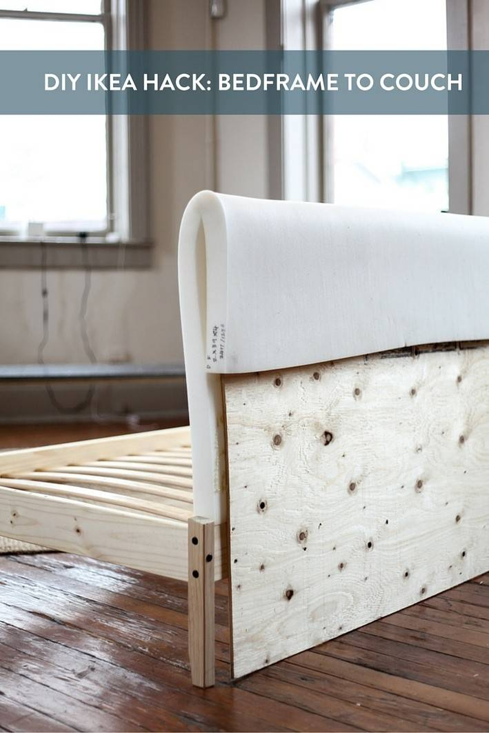 Ikea Hack Turning Fjellse Bedframe Into Couch Curbly