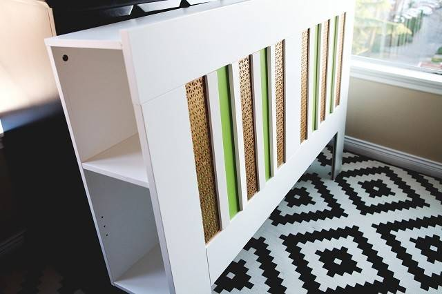 Ikea Headboard Hack Plain White Bold Stripes