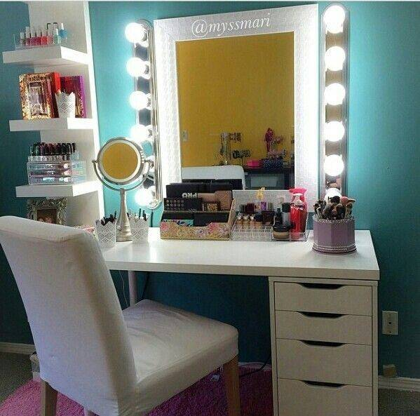 Ikea Makeup Vanity Idea Hacks Pinterest