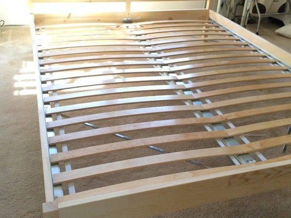 Ikea Tarva Queen Bed Frame Luroy Slats
