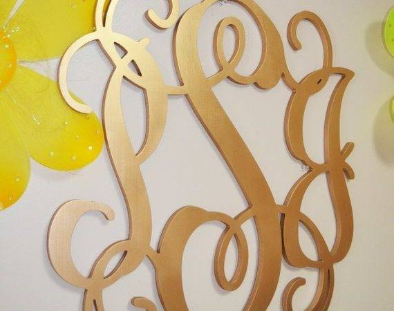 Inch Painted Wooden Monogram Letters Wood Guest