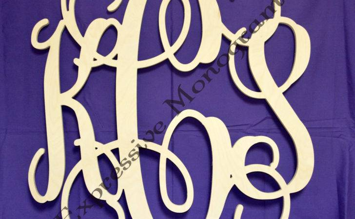 Inch Wooden Monogram Letters Custom Wood Expressivemonograms