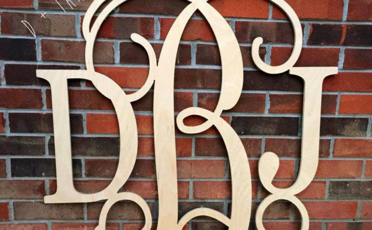 Inch Wooden Monogram Letters Home Decor