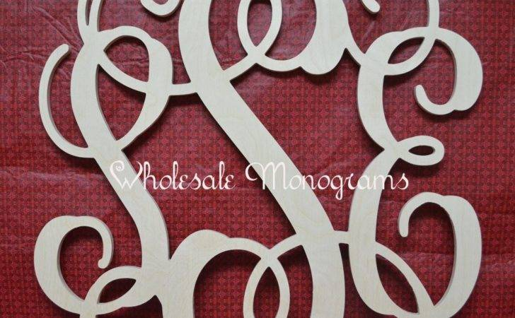 Inch Wooden Monogram Letters Unpainted Wedding Decor