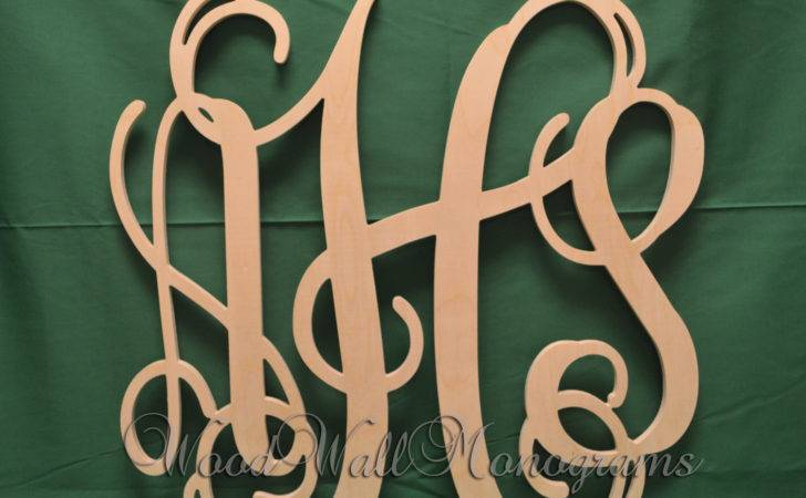 Inch Wooden Monogram Letters