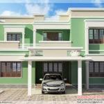 Indian Flat Roof Villa Feet Kerala Home Design