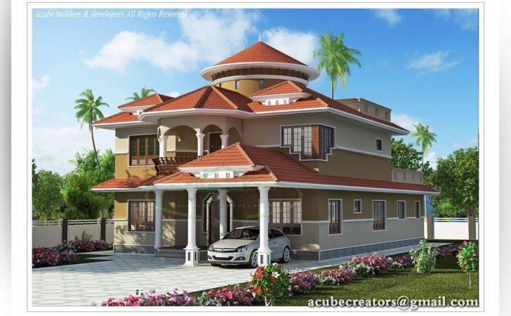 Indian Home Design Creative Exterior Attractive