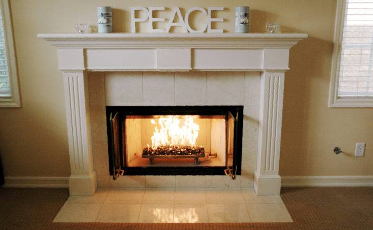 Indoor Fireplace Fire Glass