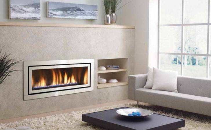 Indoor Gas Wall Fireplaces Modern Soft