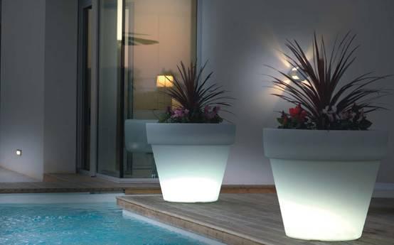 Indoor Outdoor Garden Light Flower Pot Nationtrendz