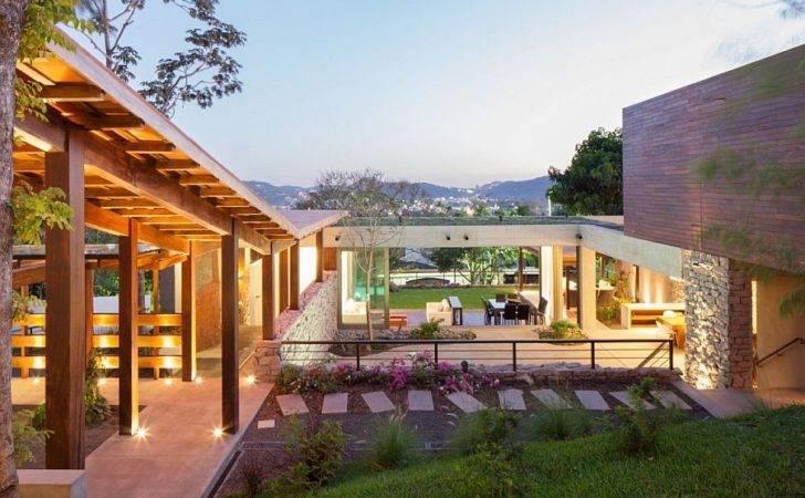 Indoor Outdoor Home Design Multi Level Garden House Salvador