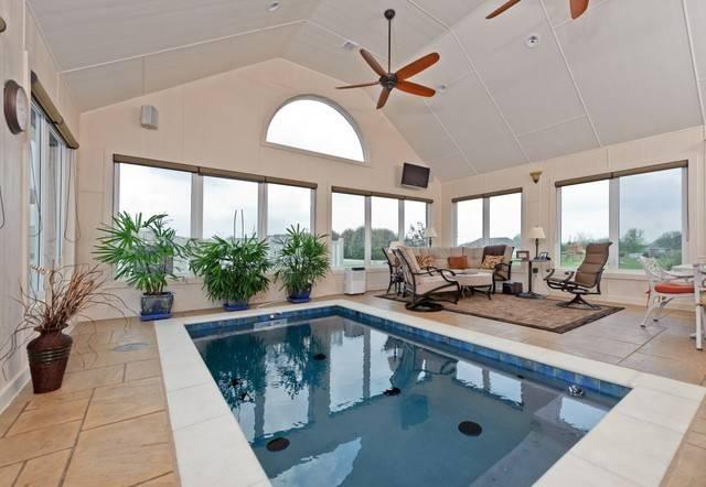 Indoor Pool Swim Spa Traditional