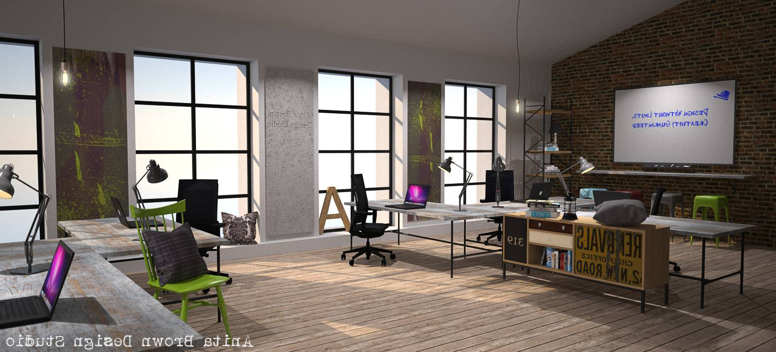 Industrial Design Office Furniture Throughout