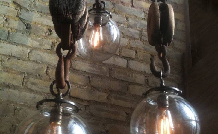 Industrial Farm House Hook Lights Wench Bar Repurposed