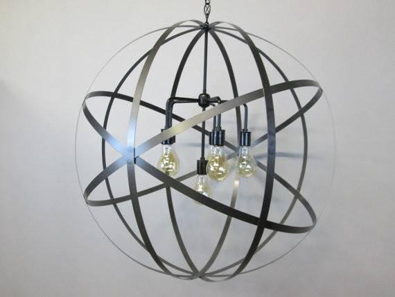 Industrial Inch Orb Chandelier Ceiling Light Sphere Wine Barrel