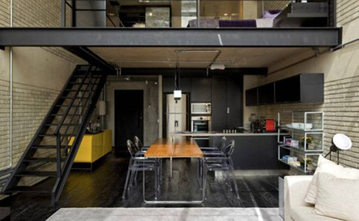 Industrial Loft Great Interior Design Brick Like Decoration