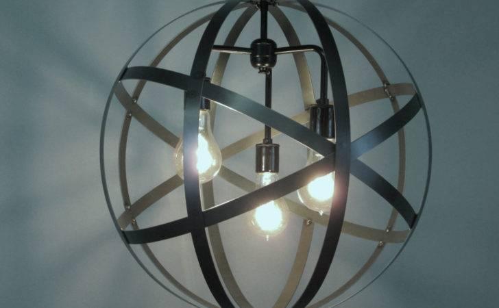 Industrial Orb Ceiling Light Sphere Diameter Wine