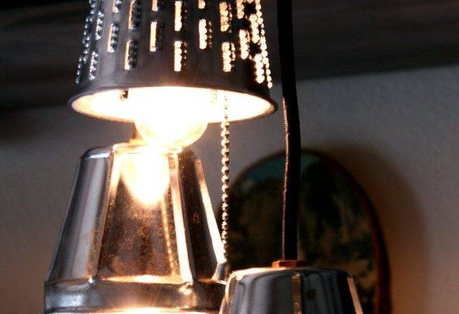 Industrial Pendant Lights Repurposed Grater Lamps Upcycle Kitch