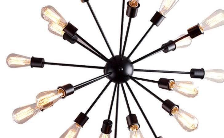Industrial Satellite Chandelier Pendant Light Fixture Arm Sputnik