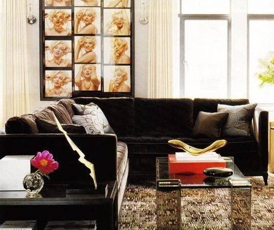 Ineterior Design Chocolate Brown Sofa Interiors Accents