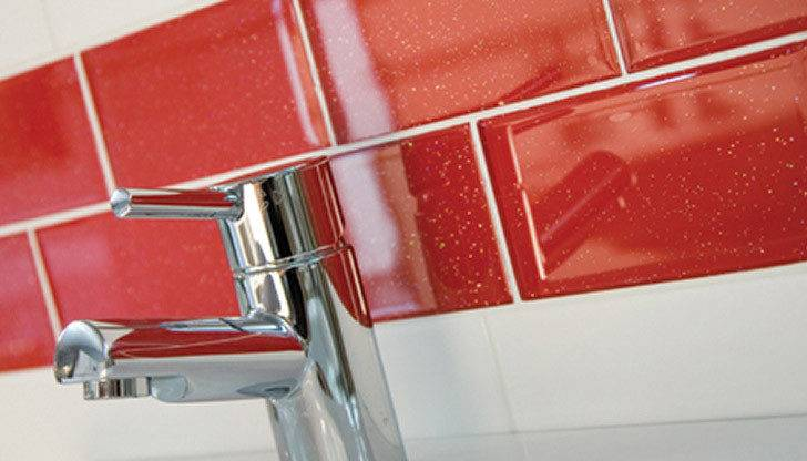 Infinity Red Brick Glass Tiles