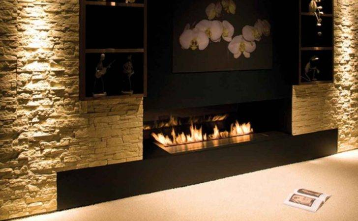 Information Contemporary Stone Fireplace Designs
