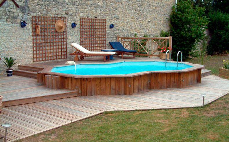 Inground Pool Deck Ideas Decks Pools