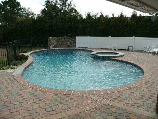 Inground Pool Design Dream House Pinterest
