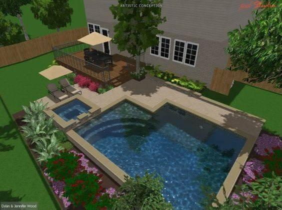 Inground Pool Designs Pools Small Yards