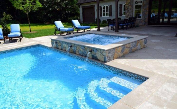 Inground Pool Inch Glass Tile Waterline Swimming