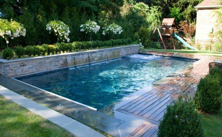 Inground Swimming Pool Designs Custom Design Landscape