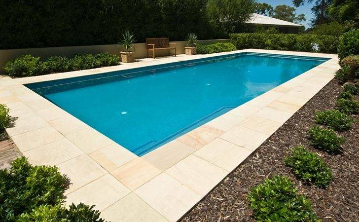 Inground Swimming Pools Standard Design Idea Concrete Tile