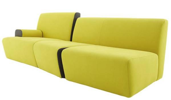 Innovative Bright Yellow Sofa Furniture Philippe Nigro