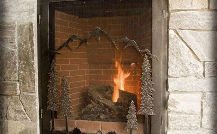 Innovative Decorative Glass Fireplace Doors Decosee