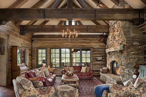 Inside Log Cabin Homes Wade Studio Interior Design Photography