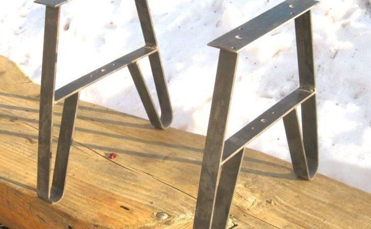 Inspirations Hairpin Leg Metal Bench Legs Home Depot