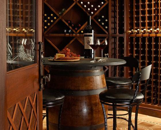 Inspired Wine Barrel Furniture Look New York Traditional