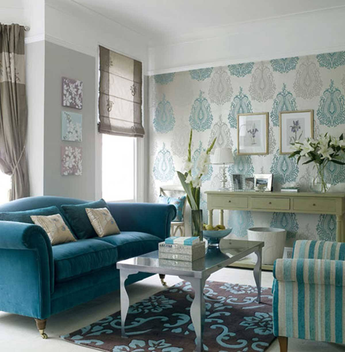 Inspiring Blue Small Living Room Decosee