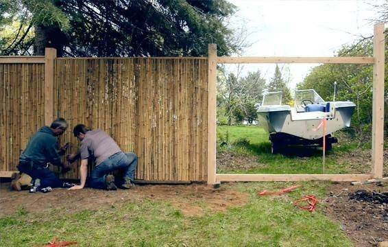 Install Bamboo Fencing Guide Sunset