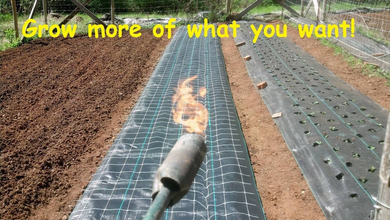 Install Burn Holes Landscape Weed Barrier Fabric