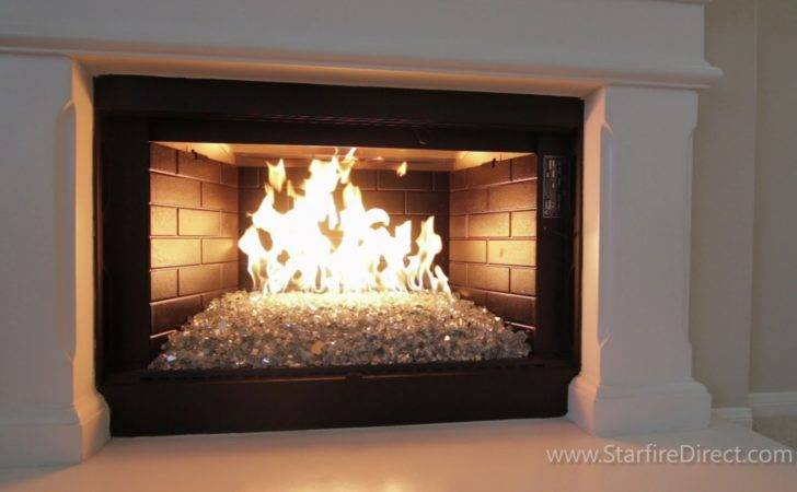 Install Burner Fire Glass Your Fireplace