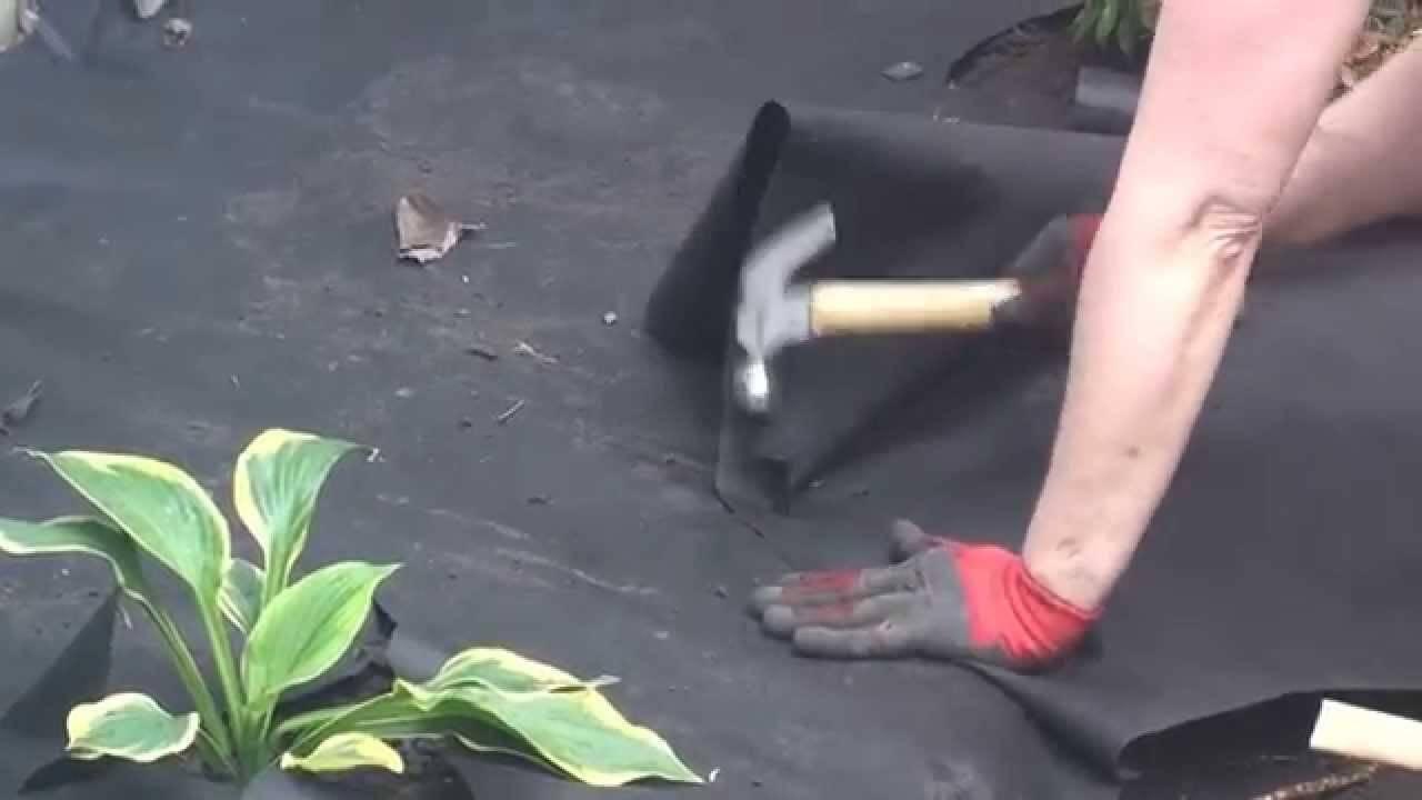 Install Landscape Fabric Installing