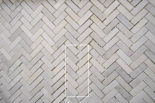 Install Marble Herringbone Tile Backsplash Laundry
