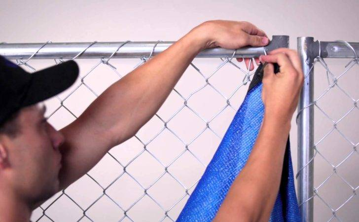 Install Privacy Fence Screen Chain Link Youtube