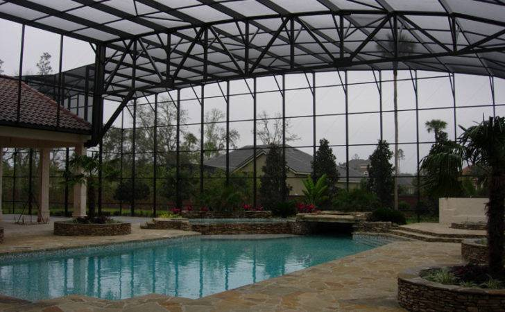 Installations Rail Light System Pool Patio Screen Enclosures