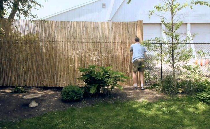 Installing Bamboo Friendly Fence Chain Link Youtube