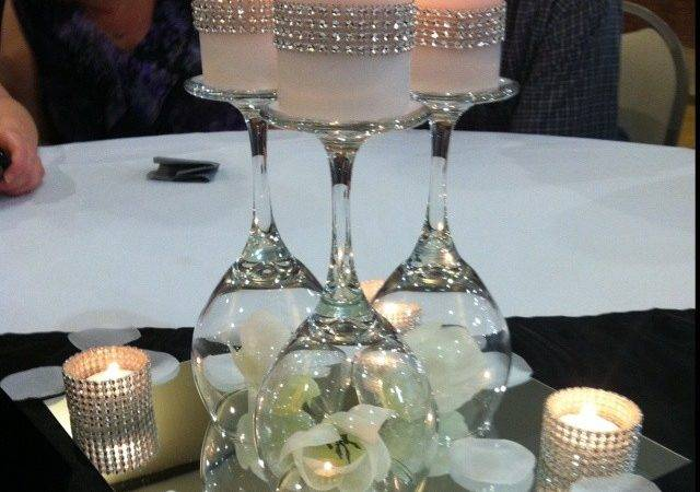Interesting Diy Wine Glass Centerpieces Lgili Bilgili